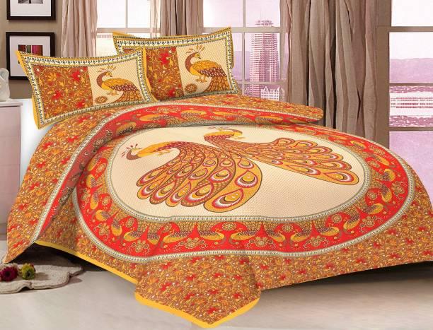 METRO LIVING 104 TC Cotton Double Printed Bedsheet