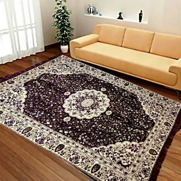 Mr Bhoria Enterprises Multicolor Chenille Carpet