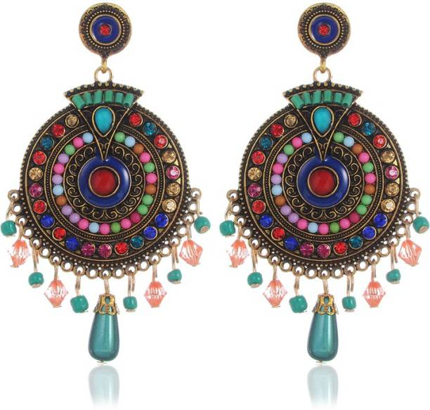 You Bella Ethnic Party Wear Jewellery Alloy Dangle Earring