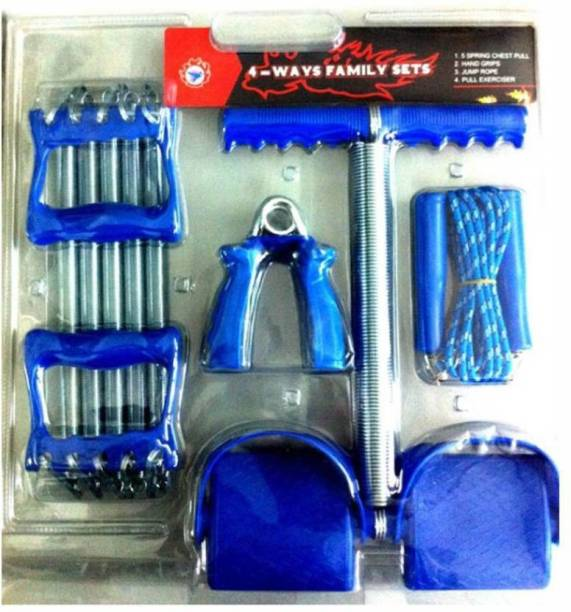 Fitness Solutions combo of Chest Expander + Tummy Trimmer + Hand Gripper & Skipping Rope Gym & Fitness Kit