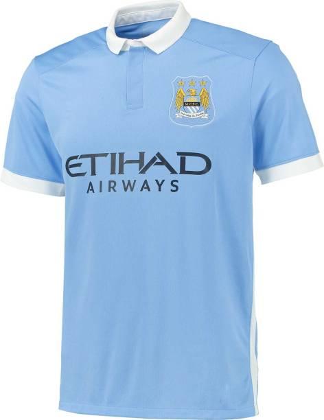 96db73ee1 Navex Footbal Jersey Club Manchester CITY Sky Short Sleeve Ket Large(40) Football  Kit