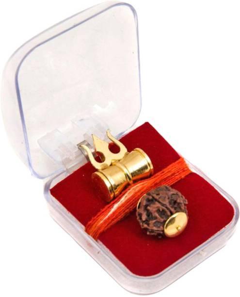 Craftsells SHIV SHAKTI KAWACH PENDANT WITH RUDRAKSHA Brass, Wooden Yantra
