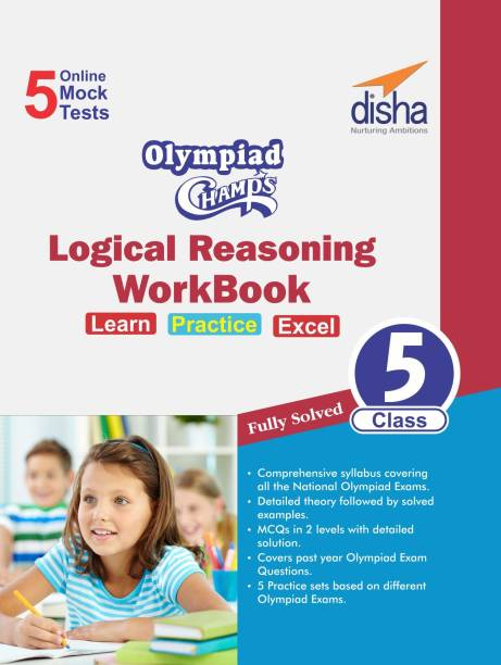 Olympiad Champs Logical Reasoning Workbook Class 5 with 5 Mock Online Olympiad Tests - 5 Online Mock Tests