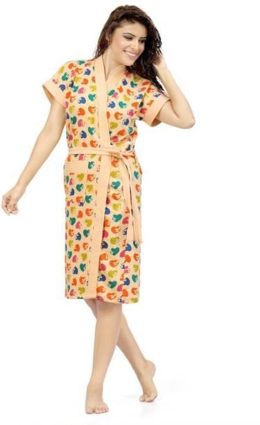 Be You Peach Free Size Bath Robe