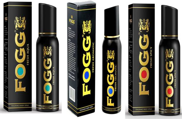 FOGG COMBO PACK OF FOGG AQUA FRAGRANCE + FOGG AROMATIC FRAGRANCE + FOGG SPICY FRAGRANCE Perfume Body Spray  -  For Men