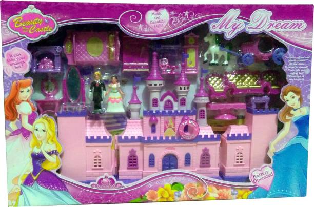 e0ea727499ff Techhark Luxury My Dream Battery Operated Barbie Castle light music set  Play House