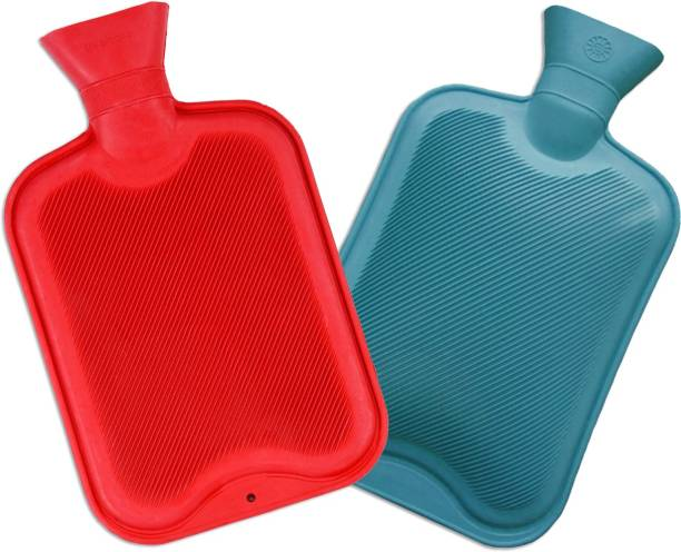 Recombigen Hot Water Bottle standard (Pack of 2) Combo 2 Pack 2000 ml Hot Water Bag