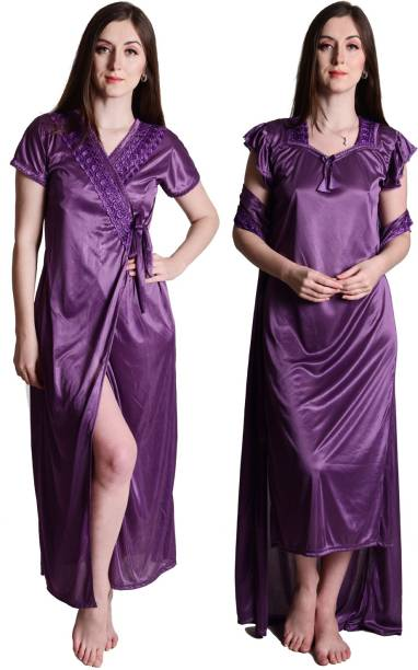 b60f9b4996 Purple Night Dresses Nighties - Buy Purple Night Dresses Nighties ...