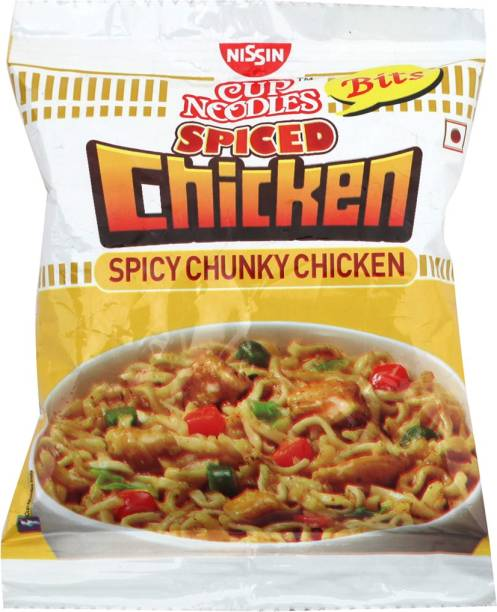 Nissin Bits Spiced Chicken Cup Noodles Non-vegetarian