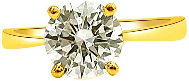 c26142e1c4b6 Surat Diamond 0.11cts Round Fancy Vivid Yellow VS2 Engagement Delight 18kt  Diamond Yellow Gold