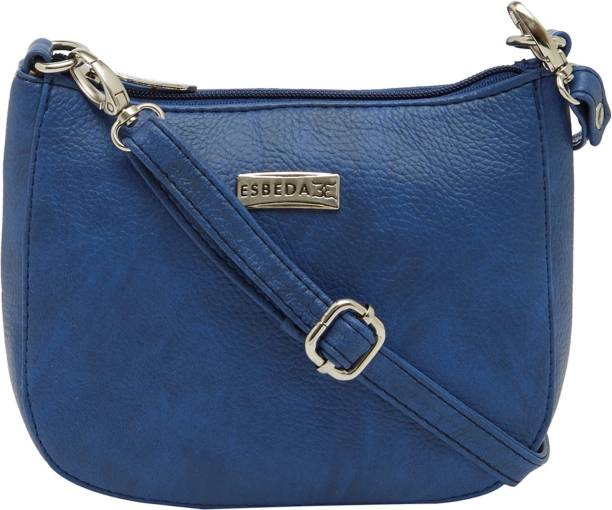 Esbeda Women Casual Blue Pu Sling Bag