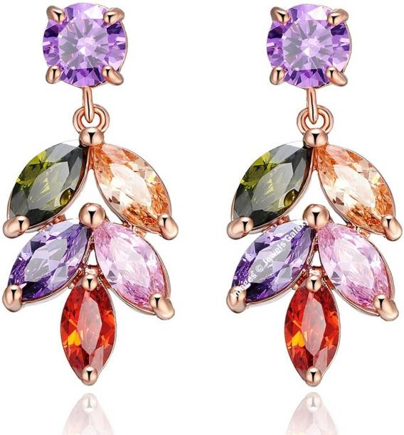 Jewels Galaxy Luxuria Swarovski Crystal Alloy Drop Earring