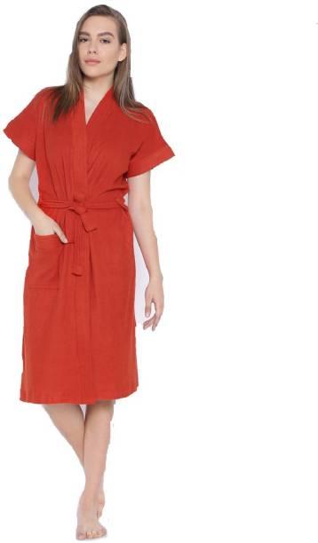 Superior Red Free Size Bath Robe