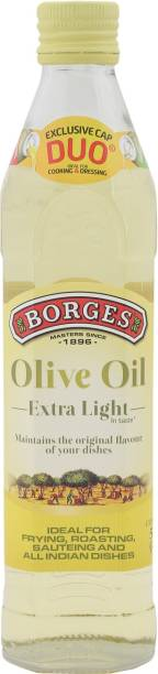 Borges Extra Light Olive Oil Glass Bottle