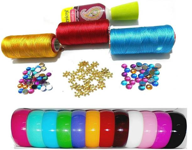 Do it yourself kits toys buy do it yourself kits toys online at goelx silk thread bangle making kit with decoration materials with full bangle box size solutioingenieria Image collections