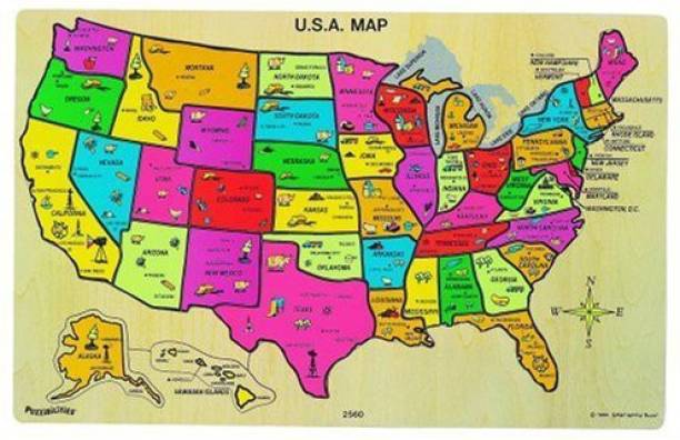 Usa Map Puzzles Online.Map Of The Us Puzzle Puzzles Buy Map Of The Us Puzzle Puzzles