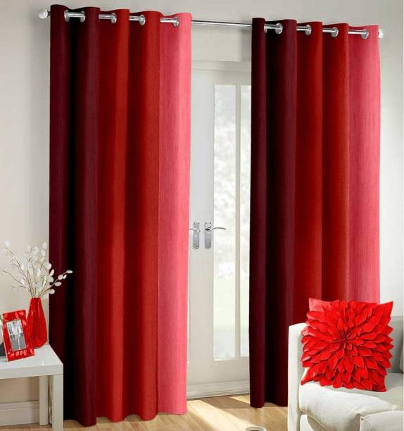 Nancy Sense of Style 213 cm (7 ft) Polyester Door Curtain (Pack Of 3)