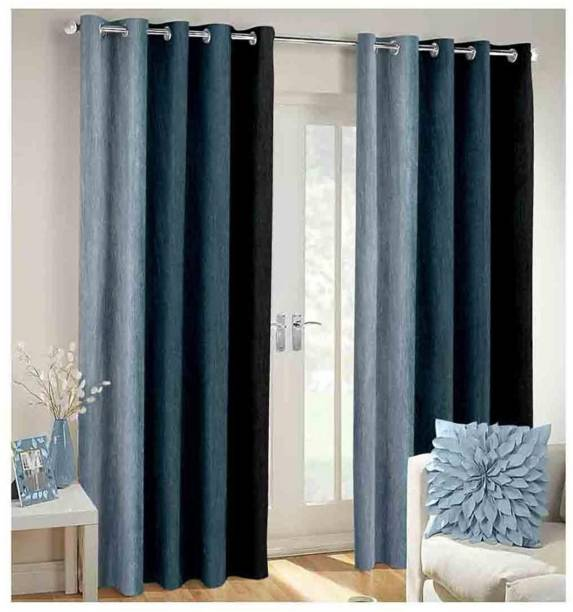 Nancy Sense of Style 274 cm (9 ft) Polyester Long Door Curtain (Pack Of 3)