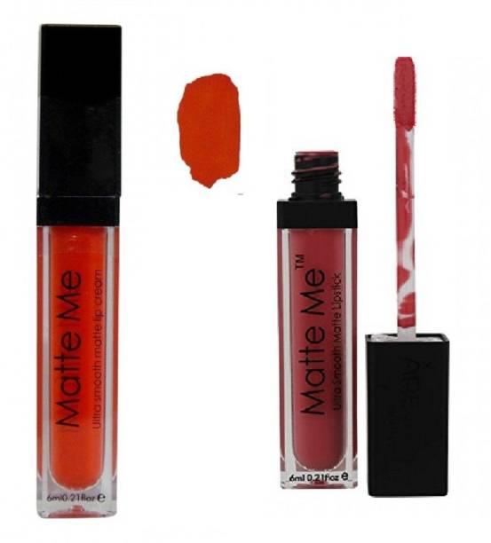 AV ADS Ultra Smooth Matte Lipstick BRIGHT ORANGE (405), GAJRI PINK (406)