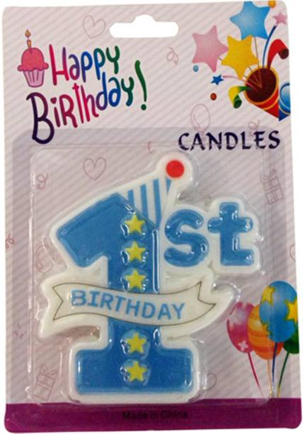 Funcart 1st Birthday Candle