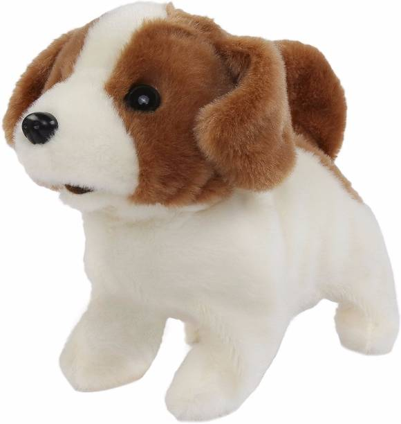 Hamleys Movers & Shakers Baby Jack Russell Plush Soft Dog  - 15 cm