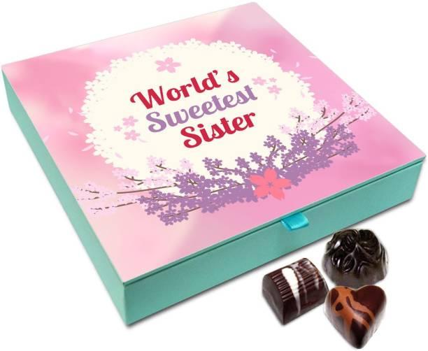 Chocholik Raksha-bandhan Gift Box - World Sweetest Loving Sister Chocolate Box For Brother / Sister - 9pc Truffles
