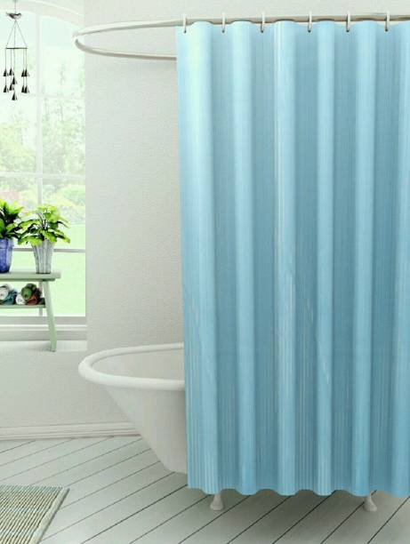 Kuber Industries 210 Cm 7 Ft Polyester Shower Curtain Single