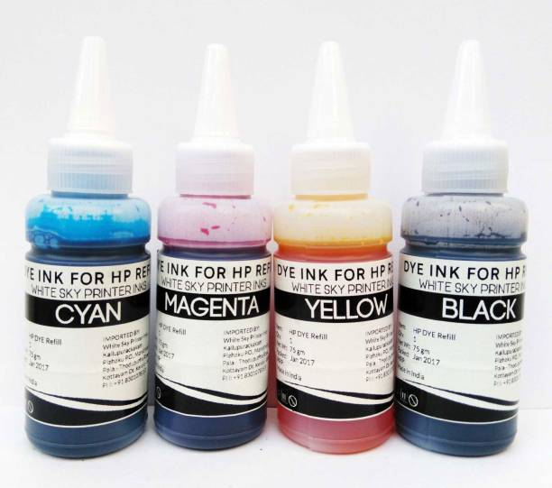 White Sky HP Refill Ink Free Syringe - 300ml Premium Quality Suitable for HP 802,