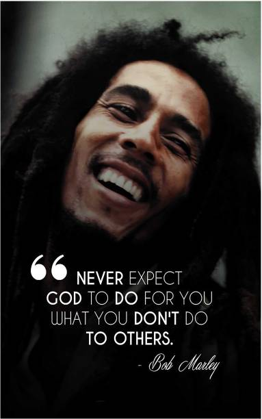 Bob Marley Inspirational Quotes Poster for room and office Paper Print