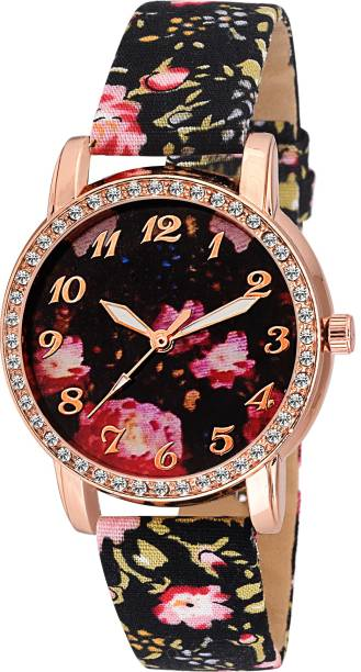 d92aa2f4d COSMIC XYZ-FLORAL PARTY WEAR DIAMOND STUDDED FANCY WOMEN LADIES Watch - For  Girls