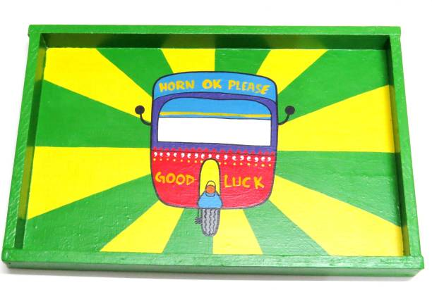 Scrapshala trippy truck wooden tray Tray