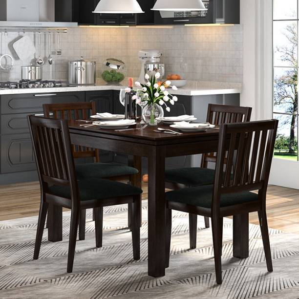 Urban Ladder Diner Solid Wood 4 Seater Dining Table