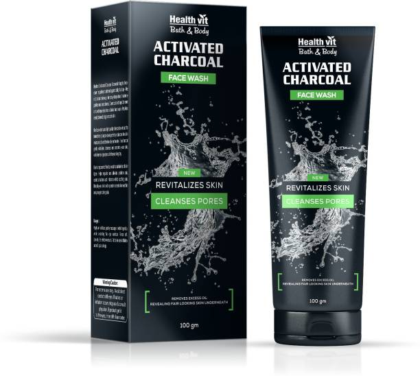 HealthVit Activated Charcoal Face Wash