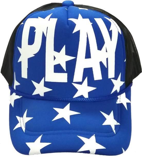 b89f1bc82193b Friendskart Solid Half Net cap For In Baseball Style Printed Play Boys And  Girls Cap