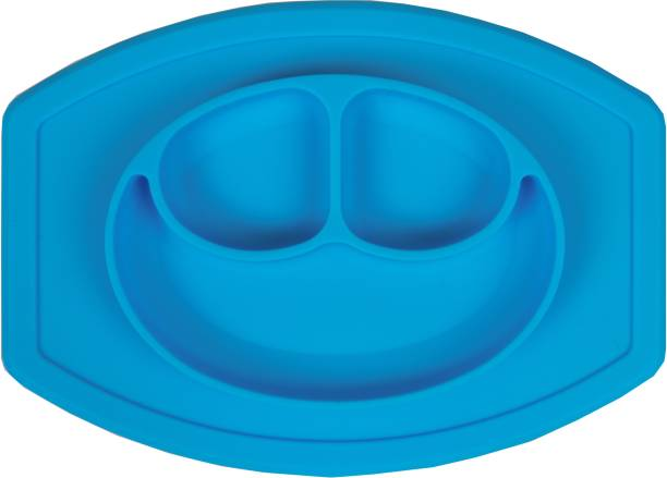 FabSeasons Silicone Food Grade, Non-Toxic and BPA Free Suction Base Plate + Placemat