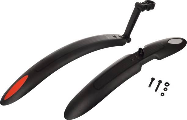 Dark Horse Bicycle Bolt -X Adjustable Reflective Mudguard/Fender Clip-on Front & Rear Fender