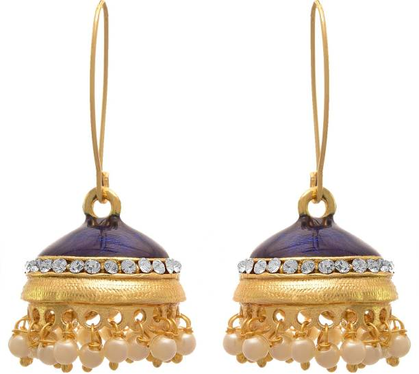 8f2df7595 JFL-Jewellery For Less JFL - Traditional and Ethnic One Gram Gold Plated  Pearls Meenakari