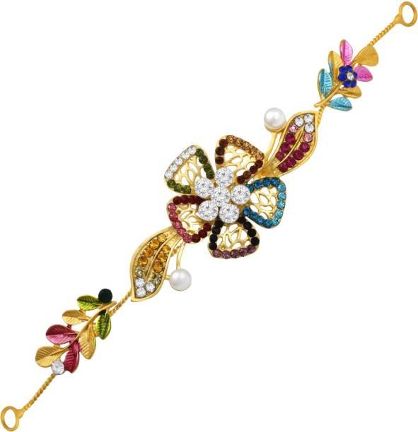 SPARGZ Gold Plated Hair Accessory Side Pin Hair Clip For Women & Girls Hair Clip