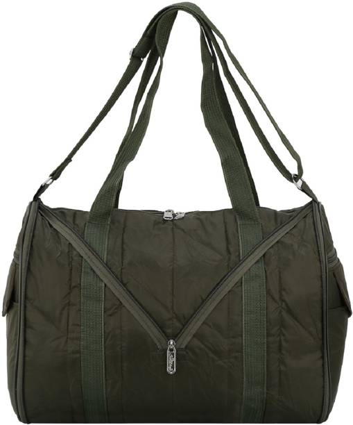 af52c20fe5 SuiDhaga 16 Inches PU Green Casual Folding Travelling 1 Main Compartments  With Two Side Zippered Pockets