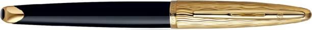 Waterman Carene Essential Black & Gold Gold Trim Roller Ball Pen
