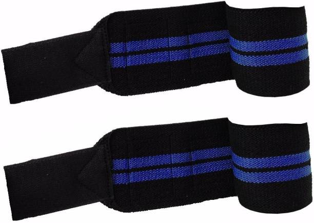 Kobo Power Weight Lifting Training Gym Straps With Thumb Support (Free Size, Blue)