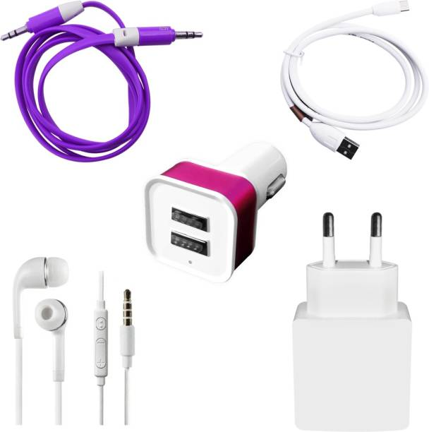 DAKRON Wall Charger Accessory Combo for iBall Andi 5U Platino