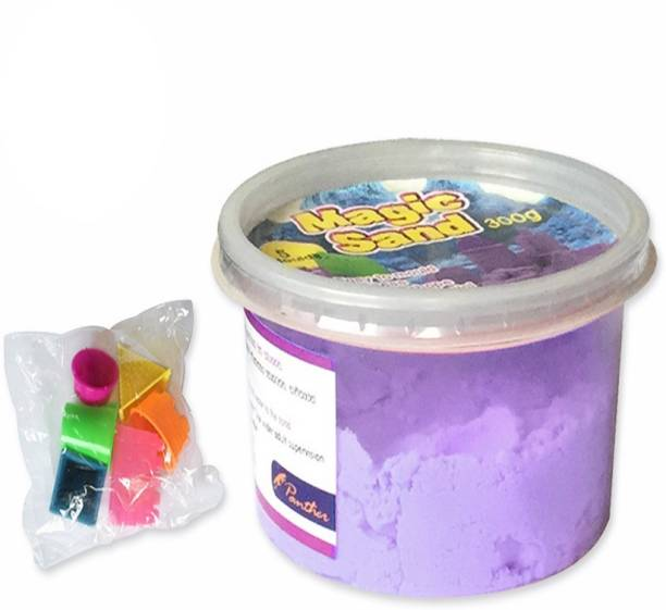 AncientKart Kinetic Magic Super Modelling Sand with Moulds Purple (300 g)