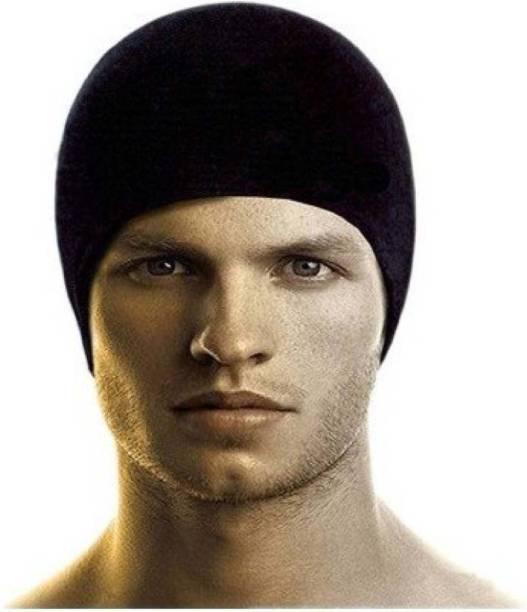 HOZIE Solid Fashionable Look Skull Helmet Cap Free Size Stretchable Cap 3c7cff1fa45b