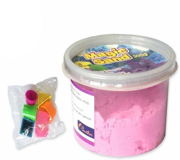 AncientKart Kinetic Magic Super Modelling Sand with Moulds Pink (300 g)