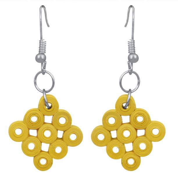 026531f07 Spargz Fancy Paper Quilling Dangle Fashion Jewellery Earrings Set For Women  And Girls Alloy Drops &