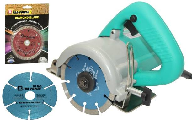 Digital Craft cutting machine (1240 W) (13000 RPM) (110 mm) for wood/marble/tile/granite/metal cutting Free 2 wheels Handheld Tile Cutter