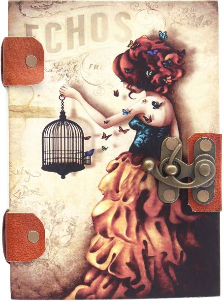 Craft Play Handmade Diary With Lock A5 Diary Unruled 144 Pages