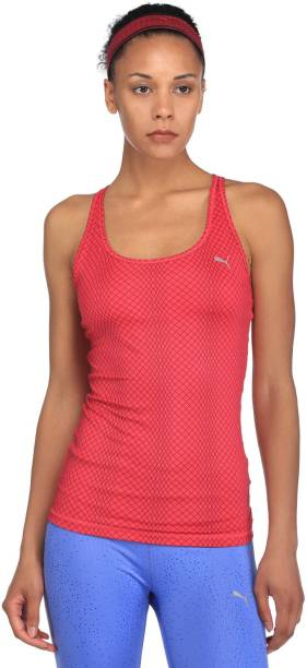 907fc708fa2572 Puma Casual Sleeveless Printed Women s Pink Top