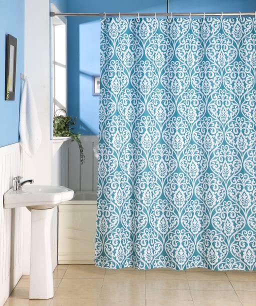 Skipper Furnishings 198 Cm 6 Ft Polyester Shower Curtain Single